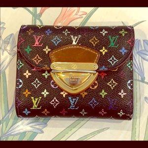 Louis Vuitton Black Colorful Bilfold